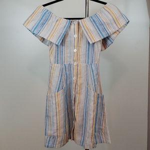 REFORMATION Botanica Striped Linen Dress sizs 0
